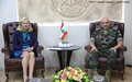 United Nations Special Coordinator Sigrid Kaag Meets Lebanon Army Commander General Joseph Aoun