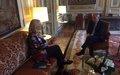UN Special Coordinator Sigrid Kaag visits Paris