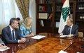 UN Special Coordinator Kaag and Deputy Special Coordinator Lazzarini Meet Lebanese President Michel Aoun