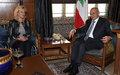 UN Special Coordinator Sigrid Kaag meets Lebanon Parliament Speaker Nabih Berri