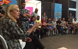 SCL Kaag attends drama therapy session by Catharsis at Roumieh Prison (21 10 16)