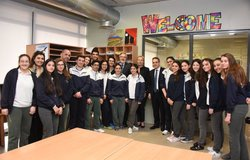 Special Coordinator Sigrid Kaag meets the students of SABIS School